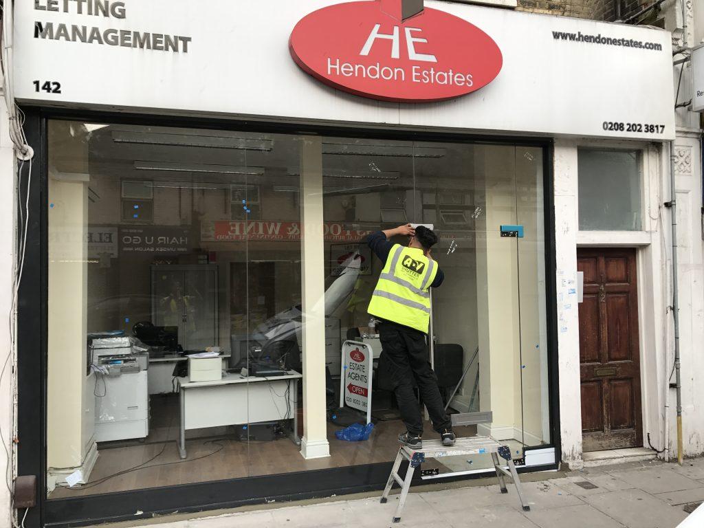 Toughened Glass Shop Front Repair